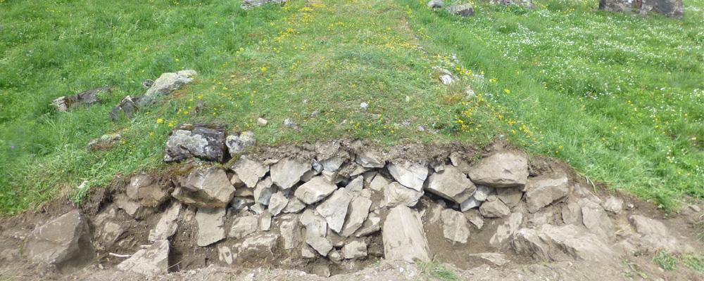 Sondierschnitt – Dammweg, Urnerboden