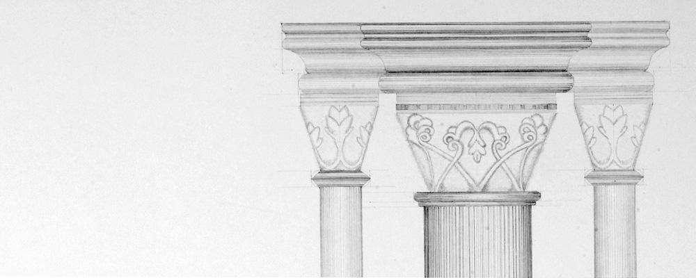 Pilaster im Seitenschiff – St. Pierre et St. Paul, Neuwiller Lès Saverne