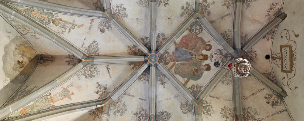 Chorgewölbe (1545) – Riedertalkapelle, Bürglen