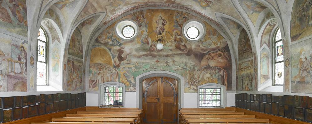 Westwand (1645) – Riedertalkapelle, Bürglen