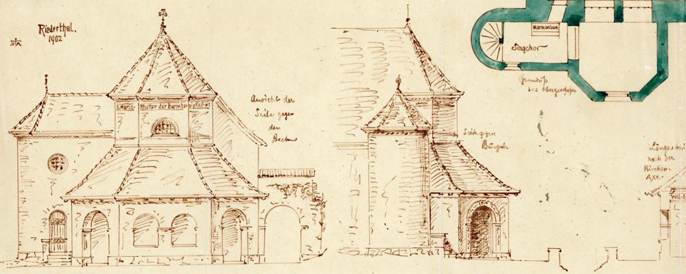 Entwurf J. Gisler (1902) – Riedertalkapelle, Bürglen